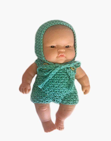 Ensemble Peque en crochet vert tilleul