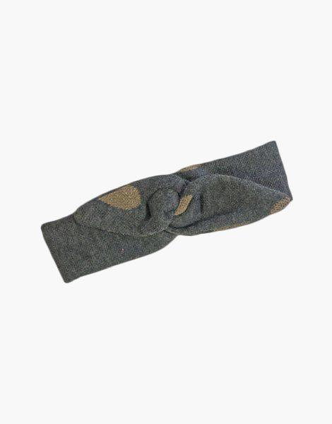 Headband Lili en coton gris/gold