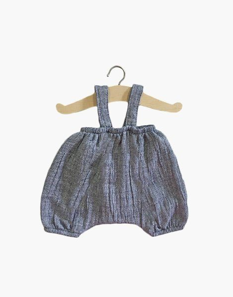 Bloomer Kim en coton double gaze denim chiné
