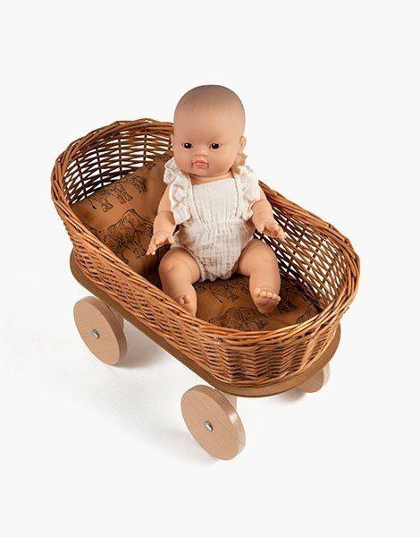 Berceau à roues Billy – Matelas et oreiller coton Les Basiles