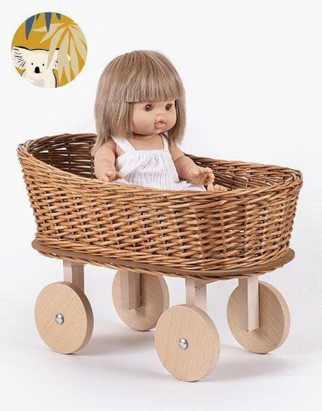 Berceau à roues Billy – Matelas et oreiller coton Koala