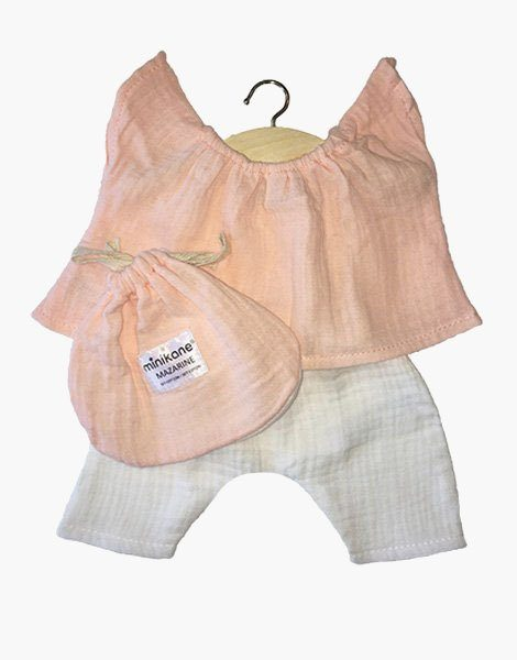 Ensemble Mazarine Rose tendre & Blanc