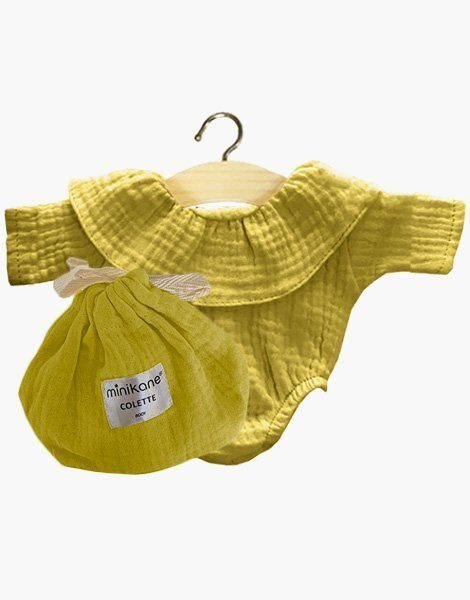 Body Colette coton double gaze jaune des sables