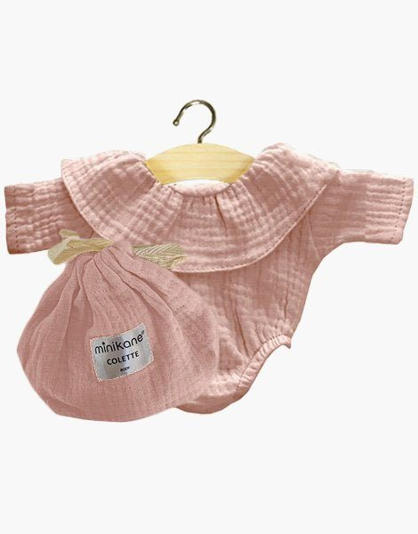 Body Colette coton double gaze Rose tendre