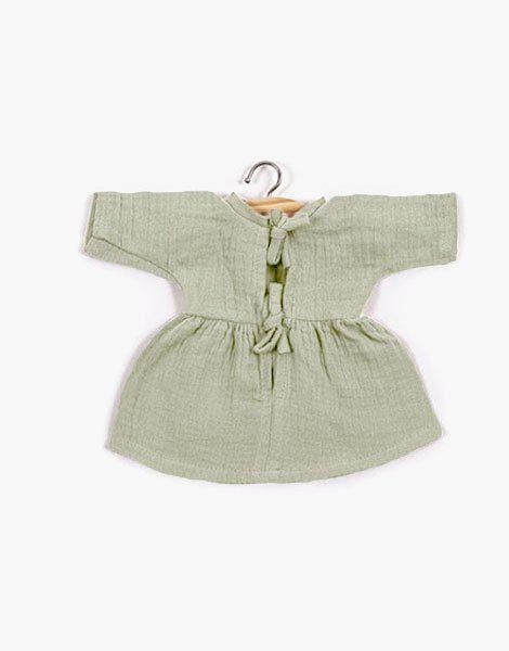 .Robe Faustine coton double gaze Pistache