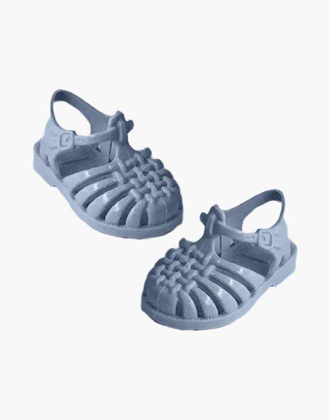 """Sandales de plage """"Sun"""" pour poupée Gordis Bleu pastel"""