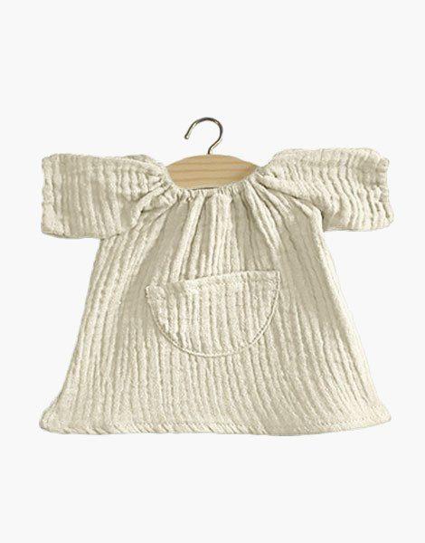 Robe Jeanne en coton double gaze Écru