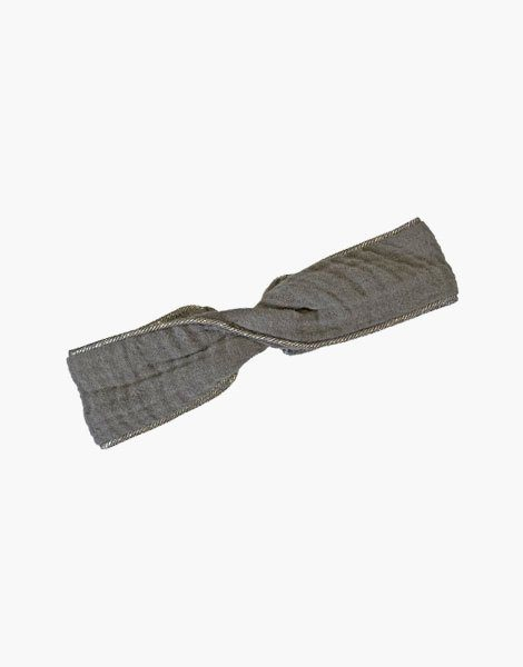 Headband gris anthracite, passe poil Silver