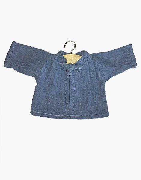 Ensemble Mao en coton double gaze Bleu artic