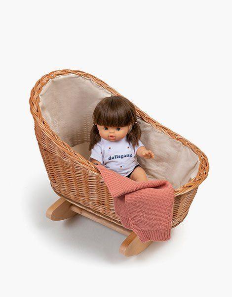 Gaston – berceau à bascule avec oreiller et couverture en tricot Marsala
