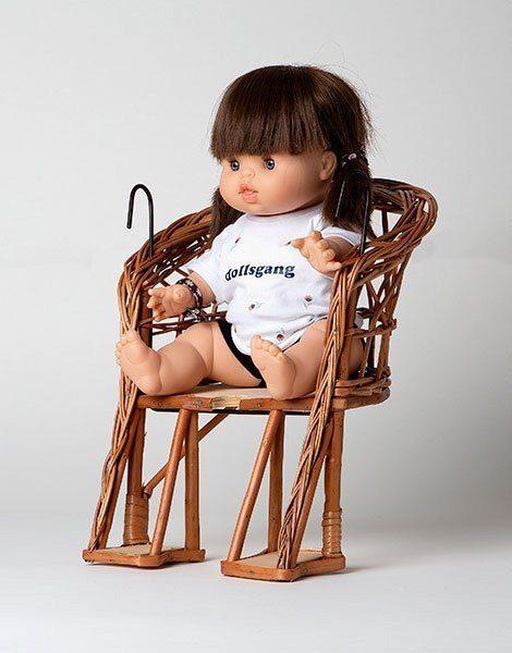Chaise de vélo poupée en osier