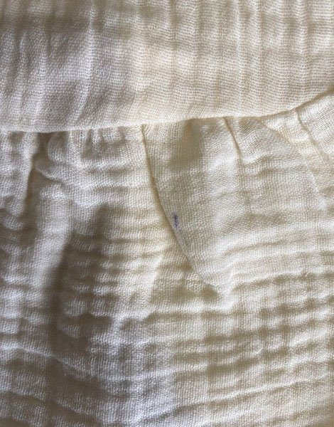 *Robe Faustine en coton double gaze Écru