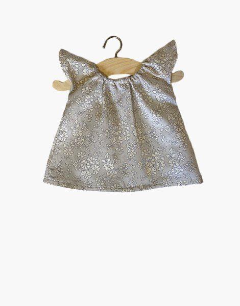 Chemise de nuit Mary en coton Liberty® Mitsi gris