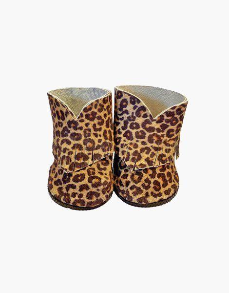Boots Boho en cuir Léopard