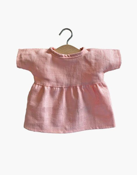 Robe Faustine en lin Rose tendre