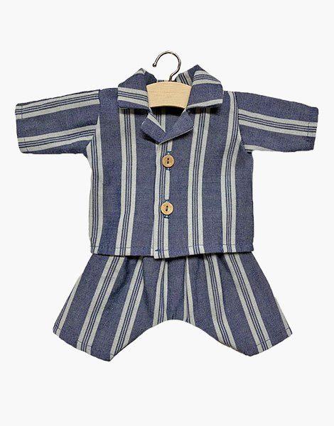 Pyjama Albert rayé en lin