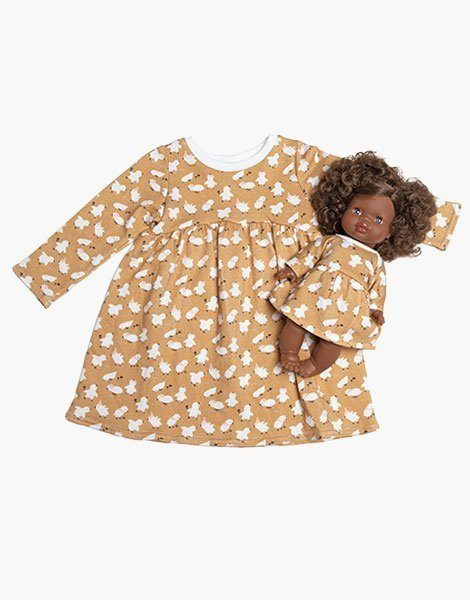 "Collection Duo – Robe ""FAUSTINE"" en coton Little chick"