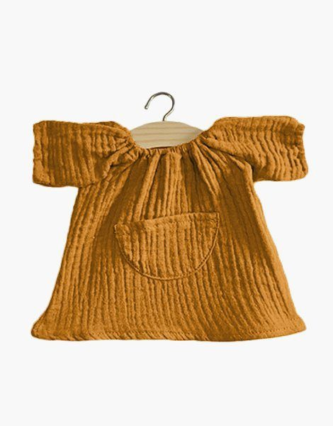Robe Jeanne en coton double gaze Camel