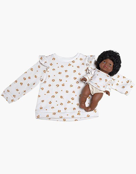 """Collection Duo – Sweat Fille """"LOUISA"""" en coton Holly"""