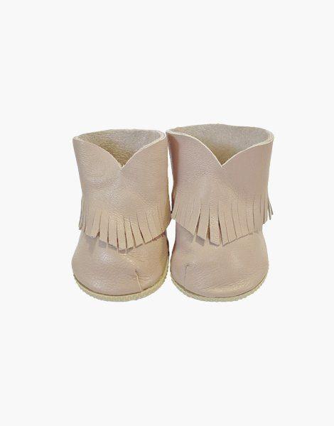 Boots Boho en cuir Mastic