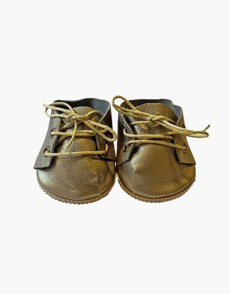 Chaussures à lacets en cuir Gold