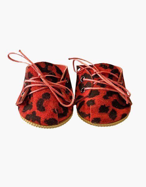 Chaussures à lacets en cuir Léopard Ruby