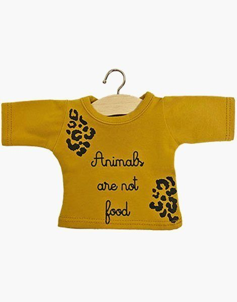 """T-shirt manches longues """"ANIMALS"""" Moutarde"""