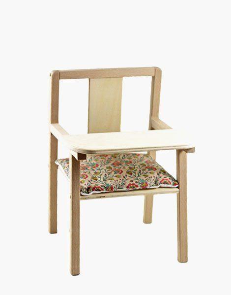 Coussin de chaise « Blaise » en coton Fleurs en liane