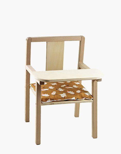 Coussin de chaise « Blaise » en coton Little chick