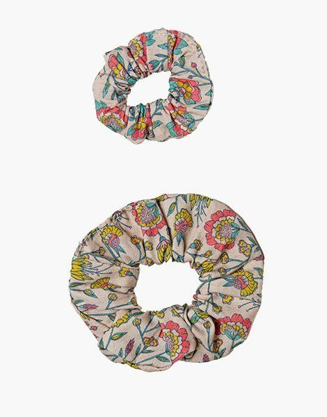 Collection Duo – Chouchou en coton Fleurs en liane