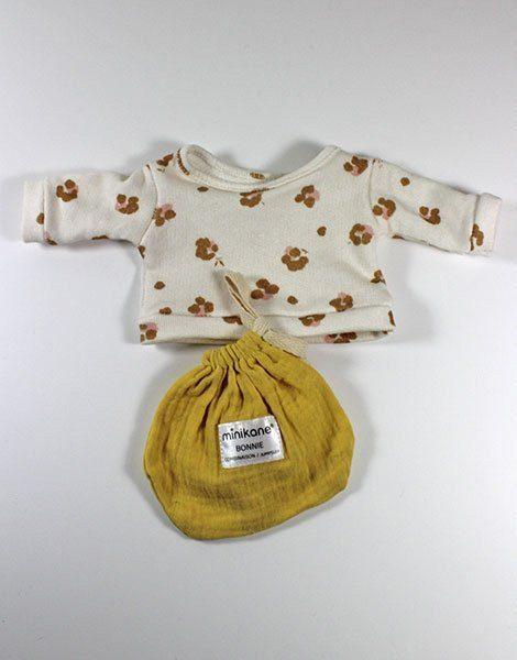 *Sweat en coton Holly / Pochon Bonnie en coton jaune des sables