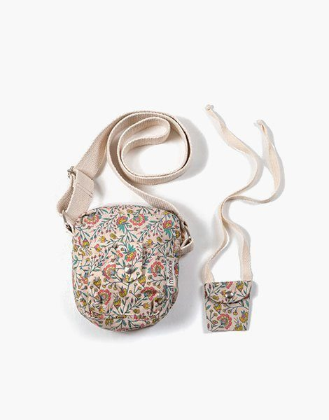 Collection Duo – Sac « LOLA » en coton Fleurs en liane
