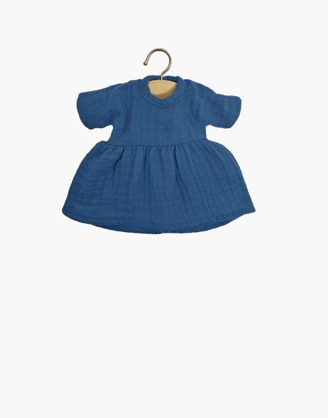 Robe Amigas Faustine en coton double gaze Bleu artic