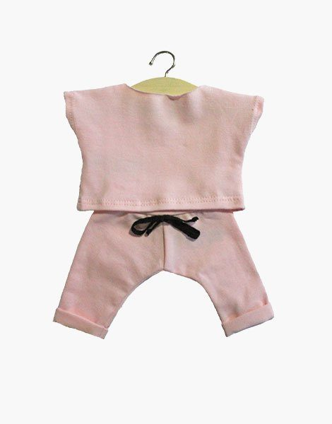 Ensemble « Maxou » en coton Rose tendre