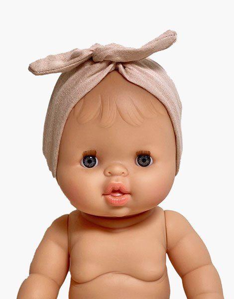 Headband en coton Nude