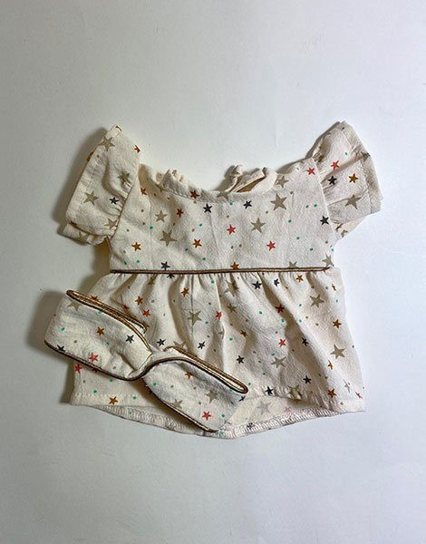 *Robe Daisy en coton organique Stars et son headband assorti