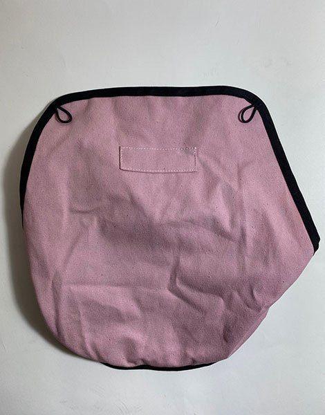 *Assise de remplacement en coton non enduit Babies Rose poudré (Défaut : couture)
