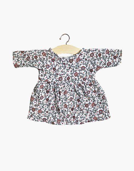 Robe Faustine en coton double gaze Fleurie