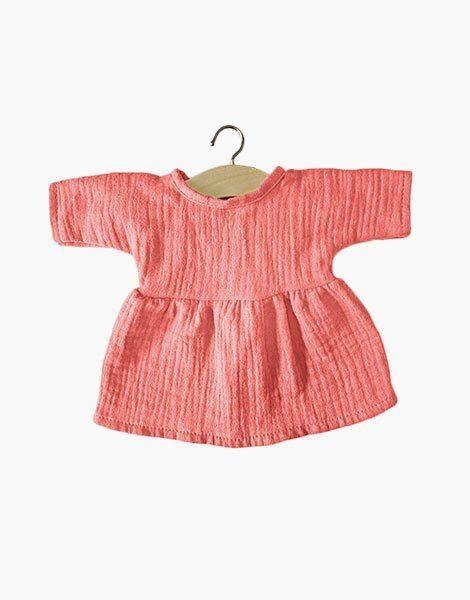 .Robe Faustine coton double gaze Marsala