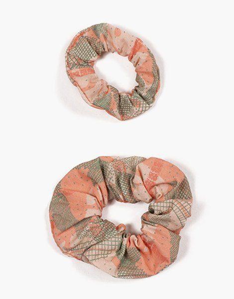 Collection Duo – Chouchou en coton Palm trees