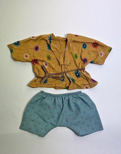 *Ensemble Kimono flowers island et son pantalon Albert vert