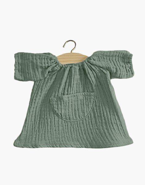 Robe Jeanne en coton double gaze Vert amande