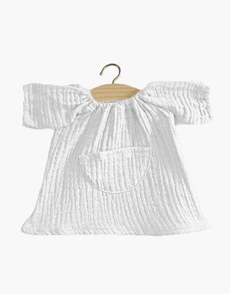 Robe Jeanne en coton double gaze Blanc