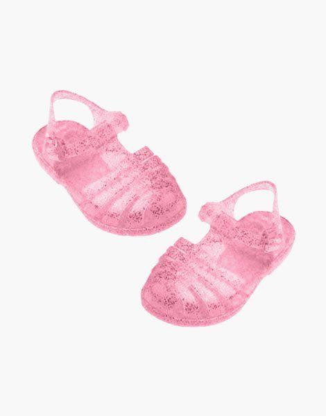"""Sandales de plage """"Sun"""" pour poupée Gordis Rose pailleté"""