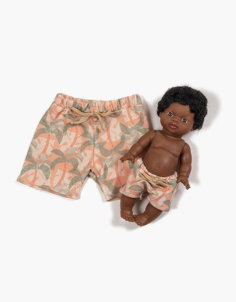 """Collection Duo – Short long """"DIEGO"""" en sweat Palm trees"""