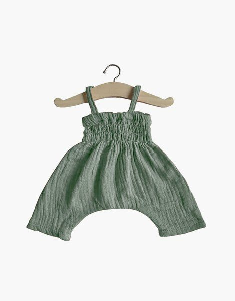 Combinaison Bonnie en coton double gaze Vert amande