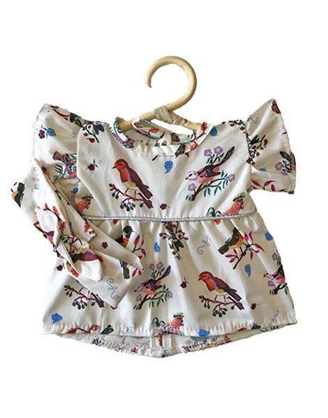 """Robe Daisy et son headband en coton """"Little birds"""""""